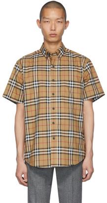 Burberry Beige Jameson Short Sleeve Shirt