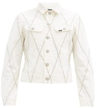 Stefan Cooke - X Lee Studded Denim Jacket - White