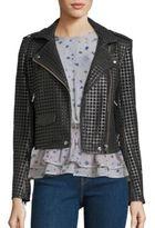IRO Branka Eyelet Leather Moto Jacket