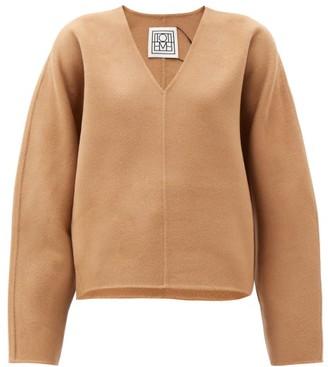 Totême Rennes V-neck Wool-blend Sweater - Camel