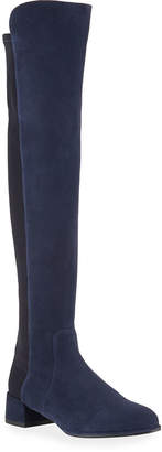 Stuart Weitzman Fifo Suede Stretch Over-the-Knee Boot