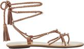 Loeffler Randall Rhinestone Studded Blush Suede Sandals