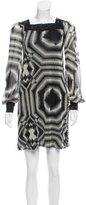 Jean Paul Gaultier Geometric Print Mesh Dress
