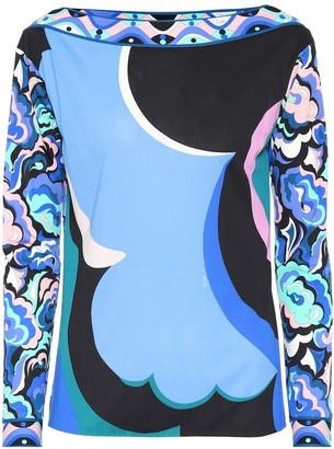 Emilio Pucci Printed silk-blend top