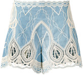 Jonathan Simkhai crochet embroidered shorts - women - Cotton - M