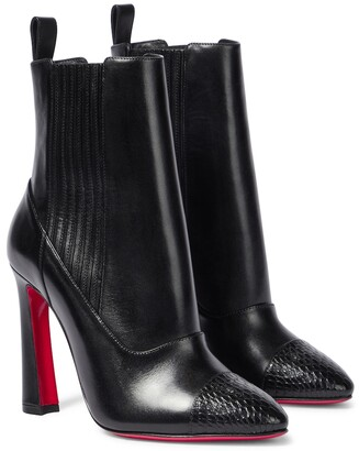 Christian Louboutin Me In The '90s 100 leather ankle boots