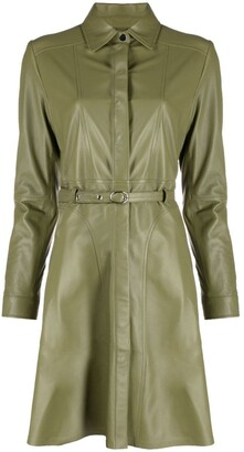 Arma Leather Belted Coat