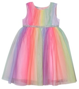 Blueberi Boulevard Little Girls Rainbow Tulle Dress