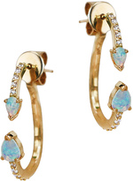 "Paige Novick Prism"" Opal Mini Hoops Earrings"