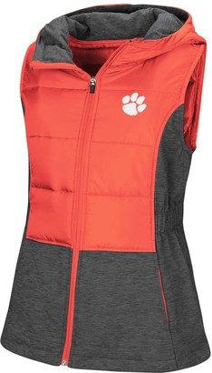 Colosseum Women's Orange Clemson Tigers Ray Quilted Full Zip Vest