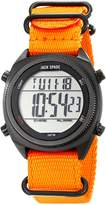 Jack Spade Men's WURU0168 Digital Display Watch with Orange Nylon Strap