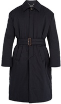 Balenciaga Belted Padded Cotton Overcoat