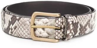 Andersons Snakeskin Print Belt