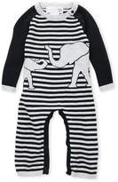 Lucky Jade Newborn/Infant Boys) Stripe Elephant Romper