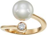 Majorica 10mm Pearl & CZ Wrap Ring