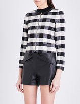 Claudie Pierlot Vertige checked tweed jacket
