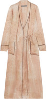 Raquel Allegra Silk-damask Wrap Dress - Beige