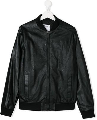 Paolo Pecora Kids TEEN zipped bomber jacket