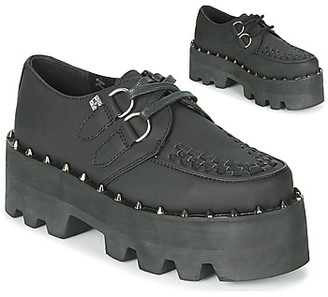 T.U.K. DINO LUG CREEPERS women's Casual Shoes in Black