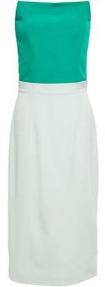 Safiyaa Strapless Two-tone Ponte Dress