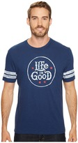 Life is Good Star Stamp Vintage Sport Tee Men's Short Sleeve Pullover