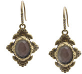 Armenta Old World Scroll Triplet Drop Earrings w/ Mixed Diamonds