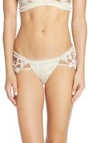 For Love & Lemons Women's Bordeaux Applique Panty
