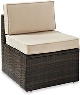 Crosley Palm Harbor Collection Outdoor Wicker Center Chair in Brown