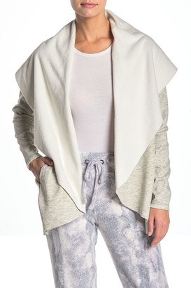 Wing Collar Open Front Cardigan