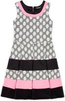 Trixxi Sleeveless Polka Dot Striped Skater Dress - Girls 7-16