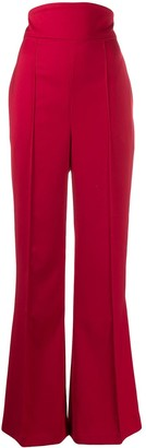 Couture Atu Body high waisted flared trousers