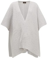 eskandar Textured-cashmere Tabard Cardigan - Womens - Light Grey