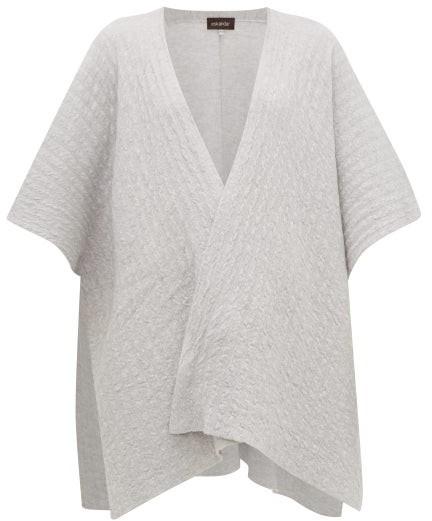 eskandar Textured-cashmere Tabard Cardigan - Light Grey