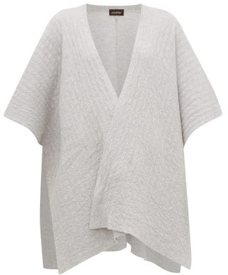 eskandar Textured-cashmere Tabard Cardigan - Womens - Light Grey