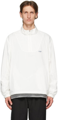 Chemist Creations White Half-Zip Track Jacket