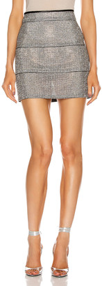 Fannie Schiavoni Rosa Skirt with Crystals in Silver | FWRD