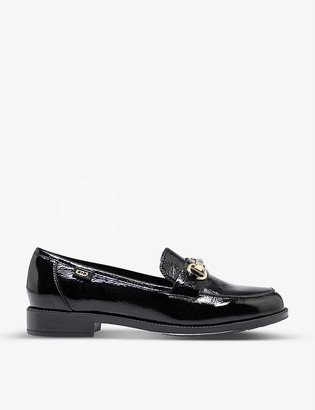 Dune Guys patent leather snaffle loafers