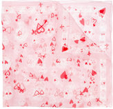 Alexander McQueen heart and skull print scarf - women - Silk/Cotton - One Size