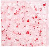 Alexander McQueen heart and skull print scarf - women - Silk - One Size