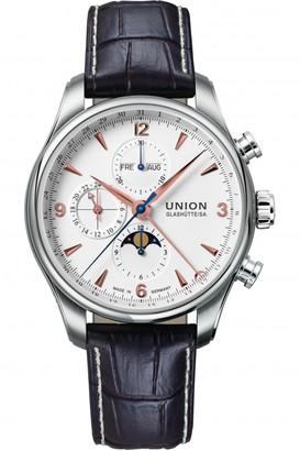 Mens Union Glashuette Belisar Moonphase Automatic Chronograph Watch D0094251601711