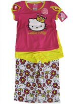 Hello Kitty Big Girls Fuchsia Kitty Image Star Print 2 Pc Pajama Set
