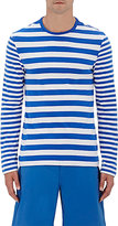 Solid & Striped Men's Mixed-Stripe Cotton T-Shirt-BLUE
