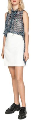 Cue Ring Snap Mini Skirt