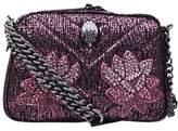 Kurt Geiger Tweed Plum Cross Body Bag, Pink
