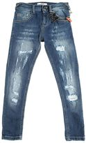 MSGM Destroyed Stretch Denim Jeans W/ Chain