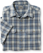 L.L. Bean Sunwashed Canvas Shirt, Traditional Fit Short-Sleeve Plaid