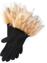 Ralph Lauren Faux Fur–Cuff Gloves