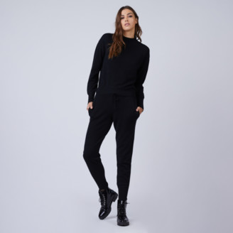 DSTLD Ribbed Cashmere Joggers in Black