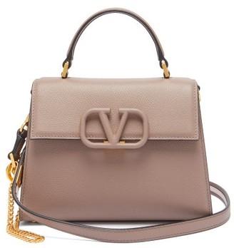 Valentino V-sling Small Leather Shoulder Bag - Womens - Grey