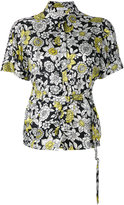 Christian Wijnants belted floral shirt - women - Cupro/Viscose - 36